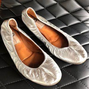 Lanvin silver flats 41
